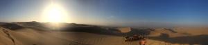 Atardecer desde las dunas. Huacachina