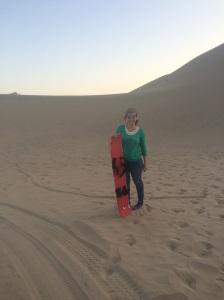 bajada en duna de desierto de Huacachina