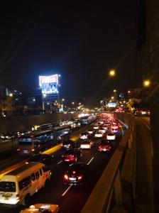 Tráfico a las 18:00 pm en Lima