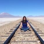 Vía del tren que une Bolivia con Chile