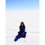 Todo el suelo es sal, los hexágonos se forman solos