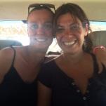 Con Alicia en nuestro sitio asignado del jeep
