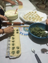 Raviolis de espinacas y riccota