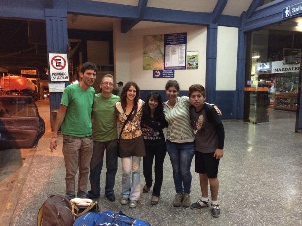 Facu, Horacio, Cony, Melody, yo y Moises