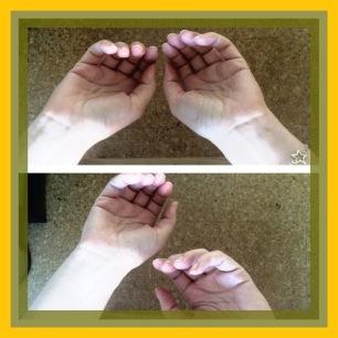 Diferencia entre manos con reflejo y sin reflejo ante un estímulo