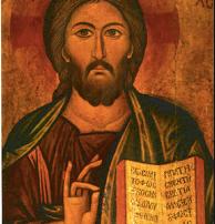 Mudra en manos de jesucristo